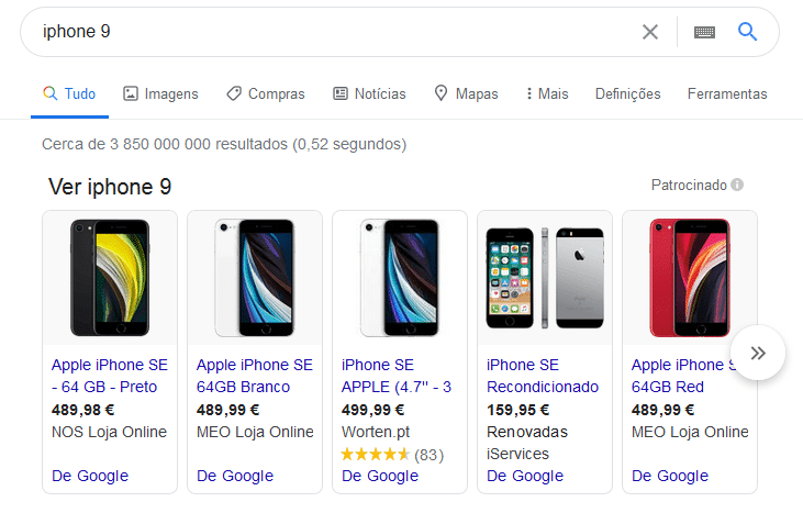 search google shopping ads