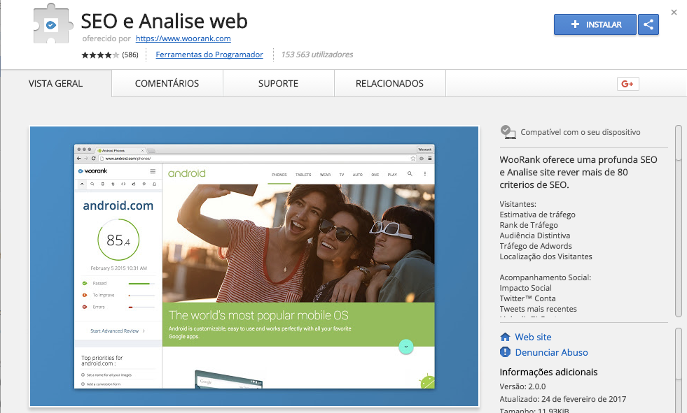 SEO e análise web